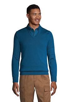 Men's Fine Gauge Supima Cotton Jumper, V-neck