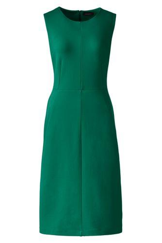 La Robe Fourreau Sans Manches Unie, Femme Taille Standard