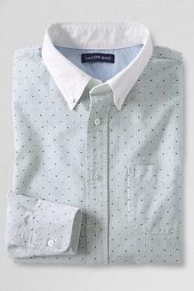 Gemustertes Heritage Oxfordhemd mit Kontrastkragen, Modern Fit