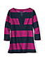 Women's Regular Three Quarter Sleeve Split Neck Stripe Tunic