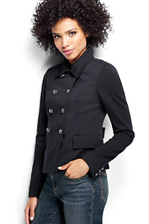 Women's Ponte Jersey Captain Jacket