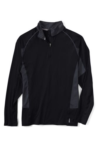 Lands End Mens Thermaskin Active Half-zip