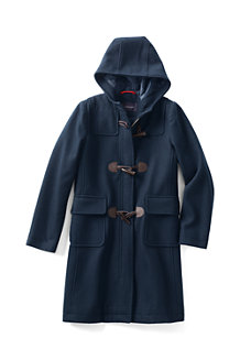 Girl's Wool Blend Duffle Coat