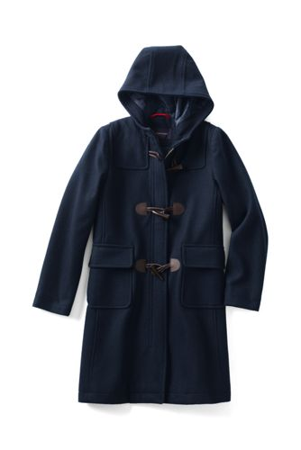 Girl's Wool Blend Duffle Coat