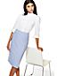 Women's Petite Long Sleeve Plain Supima Non-Iron Shirt