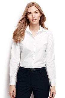 Supima Bügelfrei-Bluse mit langen Ärmeln
