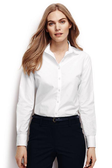 Women's Petite Long Sleeve No Iron Shirt