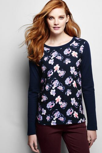 Women's Regular Woven Front Print Jumper