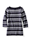 Women's Regular Starfish Jacquard Boatneck Tunic