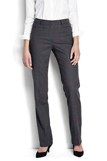 Women's Wear to Work Mid Rise Patterned Trousers