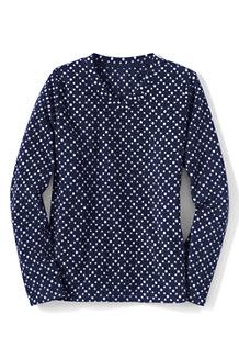 Women's Everyday Print Fleece 100 V-neck Jumper