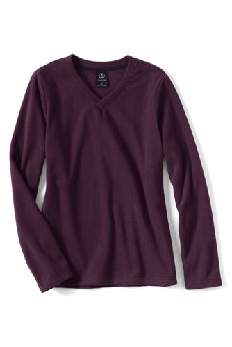 Everyday 100 Fleece-Pullover mit V-Ausschnitt