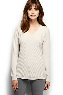 Women's Chevron V-neck Tunic
