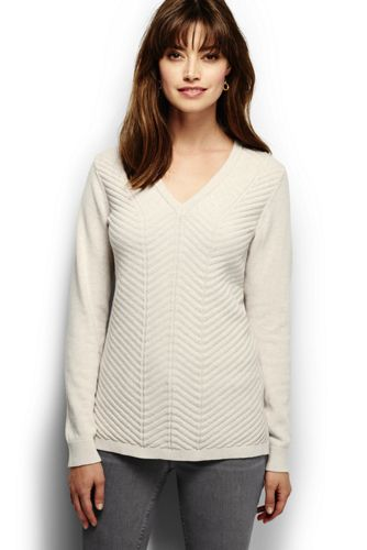 Women's Regular Chevron V-neck Tunic