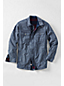 Men's Regular Flannel-lined Chambray Shirt Jacket