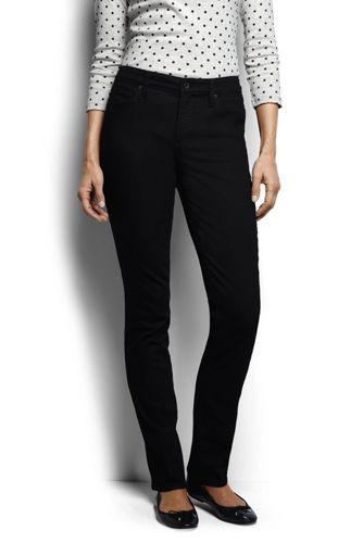 Le Jean Noir Coupe Slim Taille mi-haute Femme, Taille Standard