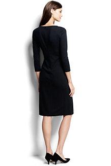 Women's Ponte Jersey Tucked Wrap Dress