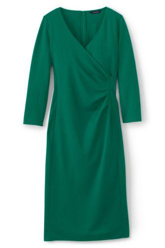 Pontékleid in Wickel-Optik mit plissierter Taille für Damen in Normalgröße