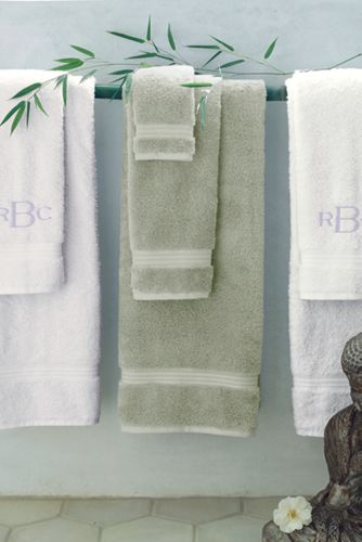 Combed Cotton/Bamboo Washcloth, Hand & Bath Towels :  towels bamboo eco-friendly soft