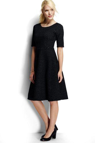 Women's Regular Jacquard Boatneck Dress