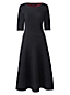 Women's Regular Jacquard Boatneck Dress