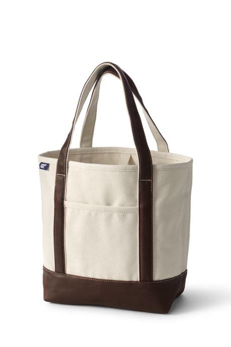 Natural Metallic Open Top Canvas Tote Bag