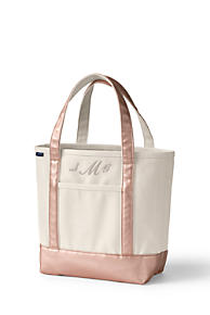 f125c018143ad Open or Zip Top Rose Gold Canvas Tote Bag