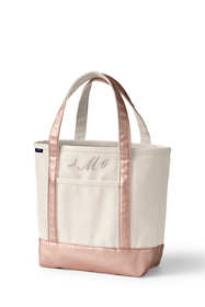 Medium Natural Rose Gold Open Top Canvas Tote Bag