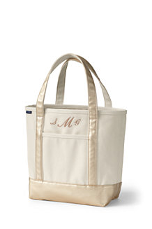 Medium Natural/Metallic Gold Open Top Tote