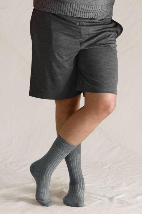 Men's Seamless Toe Cotton Rib Dress Socks (3-pack)