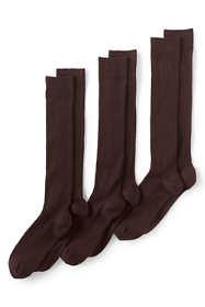 Men's Seamless Toe Over The Calf Cotton Rib Dress Socks (3-pack)