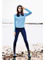 Mittelhohe Skinny Jeans, Dark Rinse