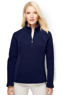 Women's Fleece Herringbone Half-zip