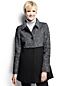 Women's Regular Melange Boiled Wool Blend Coat