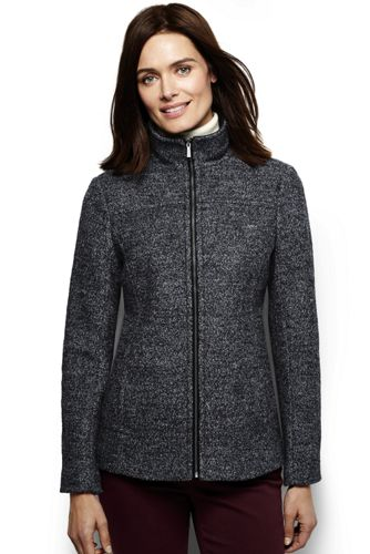 Women's Regular Heathered Boiled Wool Blend Jacket