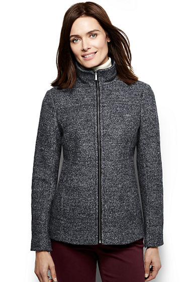 Women's Melange Boiled Wool Jacket from Lands' End