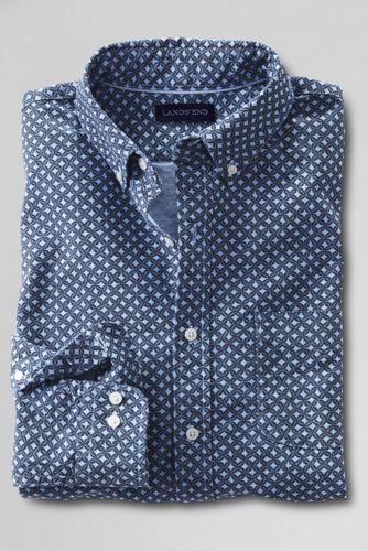 Men's Regular Slim Fit Printed Sail Rigger Oxford Shirt