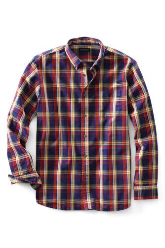 Men's Regular Tailored Fit Patterned Sail Rigger Oxford Shirt