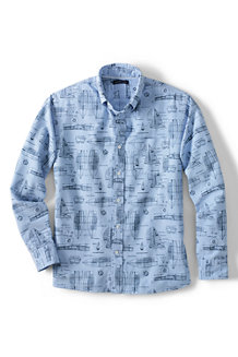 Men's Traditional Fit Printed Sail Rigger Oxford Shirt