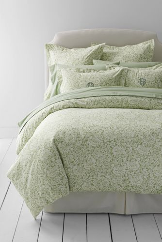 6oz Flannel Printed Duvet Cover On Sale At Lands End For