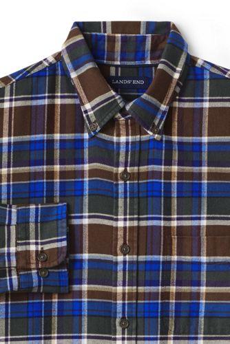 La Chemise en Flanelle à Motif Coupe Ajustée Homme, Taille Standard
