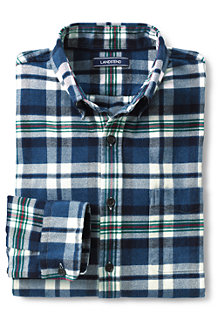Men's Tailored Fit Patterned Flannel Shirt