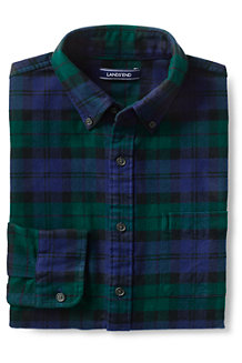 Men's Traditional Fit Patterned Flannel Shirt