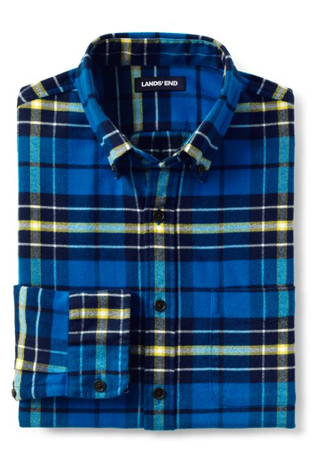 Men's Tailored Fit Pattern Flagship Flannel Shirt