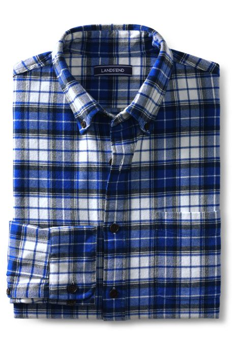 Men's Slim Fit  Long Sleeve Pattern Flannel Shirt