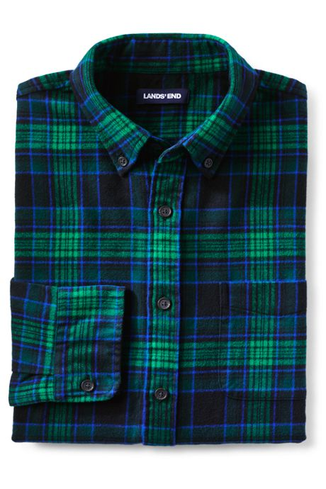 Men's Tall Traditional Fit Pattern Flagship Flannel Shirt