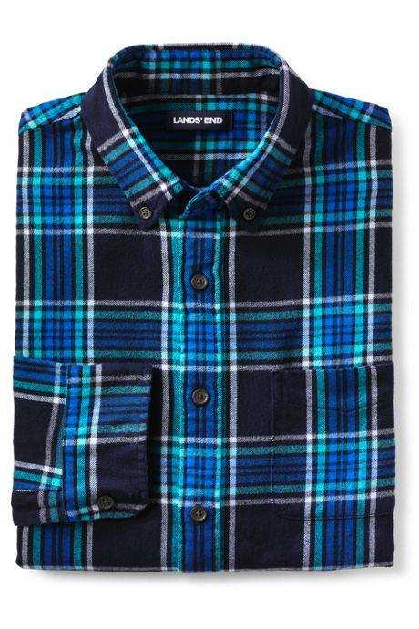 Men's Slim Fit Pattern Flagship Flannel Shirt