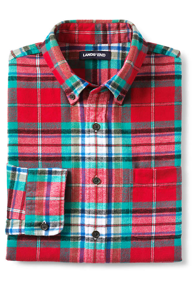 Men's Tailored Fit Flagship Flannel Shirt, alternative image