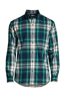 Men's Patterned Flannel Shirt, Tailored Fit