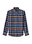 Men's Regular Slim Fit Patterned Flannel Shirt